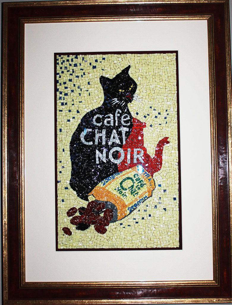 mozaiek chat noir kuulkes