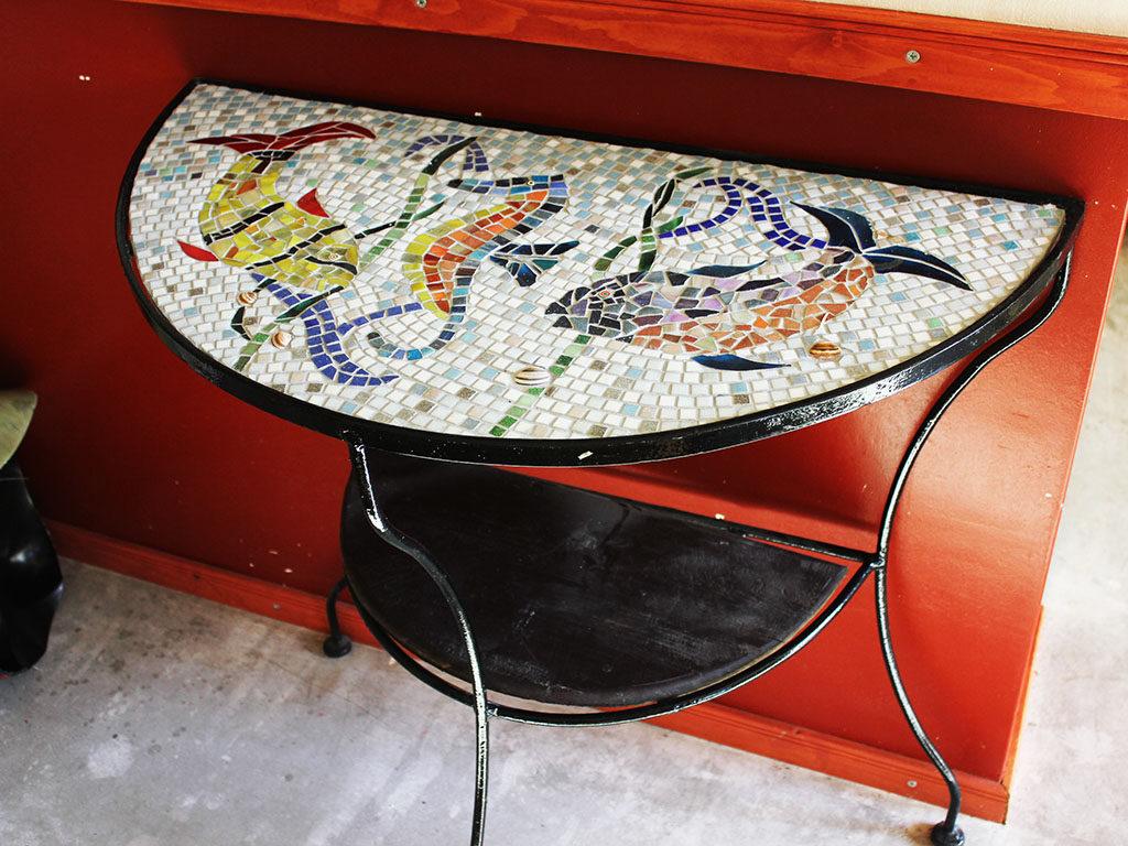 mozaiek tafel kuulkes