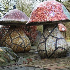 Paddenstoelen met Mozaiek