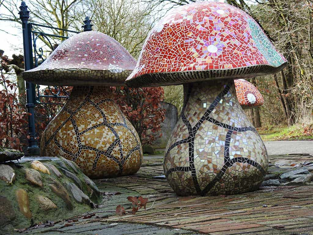 mozaiek paddenstoel kuulkes