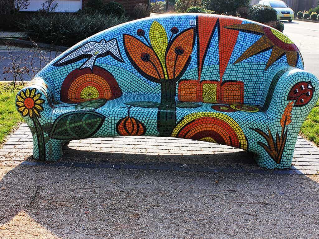 mallen maken en mozaiek Kuulkes Kunst Atelier Stramproy
