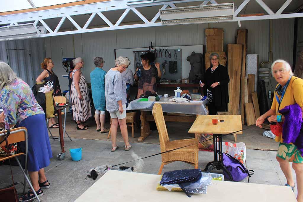 workshop vilten bij Kuulkes Kunst Atelier
