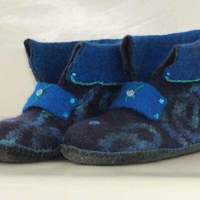 Vilten Pantoffels blauw