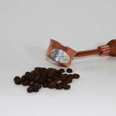 Koffieschep koper