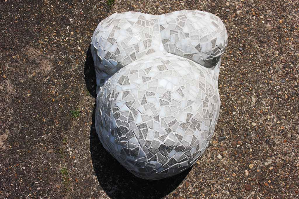 Gipsbuik mozaiek Kuulkes Kunst Atelier